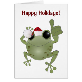 Toadally Awesome Happy Holidays! Greeting Card