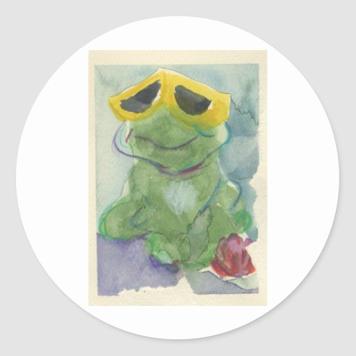 Toadally Awesome Tyrone T. Toad Round Sticker