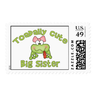 Toadally Cute Big Sister Postage Stamps