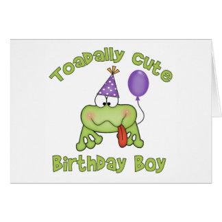 Toadally Cute Birthday Boy Stationery Note Card