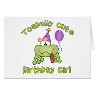 Toadally Cute Birthday Girl Stationery Note Card
