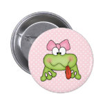 Toadally Cute Girl Frog 2 Inch Round Button