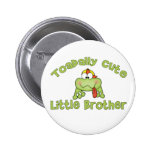Toadally Cute Little Brother 2 Inch Round Button