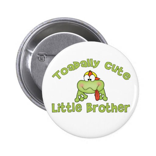 Toadally Cute Little Brother Pins