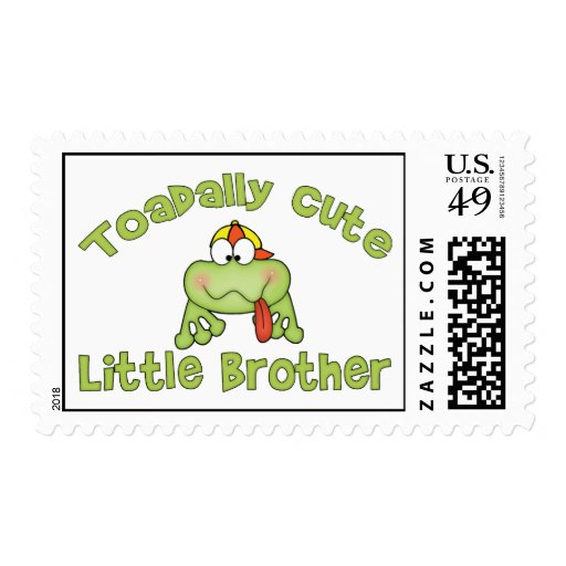Toadally Cute Little Brother Postage