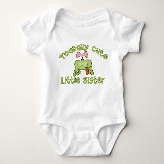 Toadally Cute Little Sister Baby Bodysuit