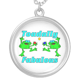 Toadally Fabulaous Round Pendant Necklace