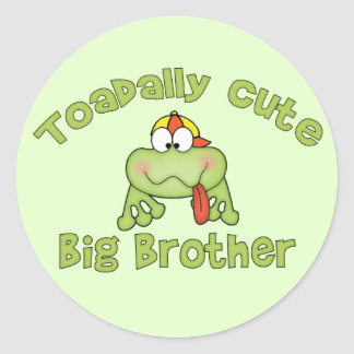 Toadally hermano mayor lindo pegatina redonda