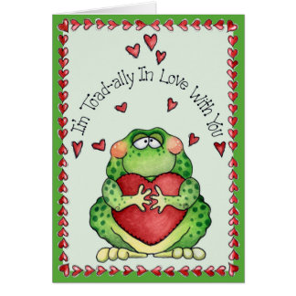 Toadally in Love - Greeting Card