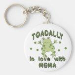 TOADALLY Love Mema Frog Basic Round Button Keychain