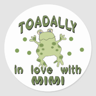 TOADALLY Love Mimi Frog Classic Round Sticker