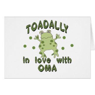 TOADALLY Love Oma Frog Card