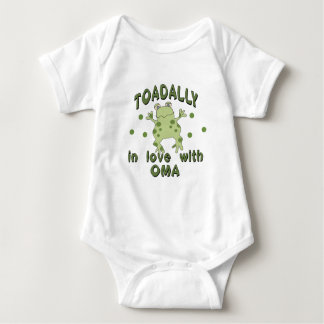 TOADALLY Love Oma Frog Infant Creeper