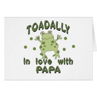 TOADALLY Love Papa Frog Card