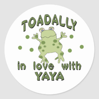TOADALLY Love YaYa Frog Classic Round Sticker