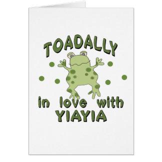 TOADALLY Love YiaYia Frog Card