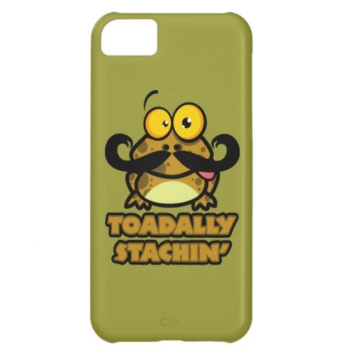 toadally sapo divertido del stachin con un bigote funda para iPhone 5C