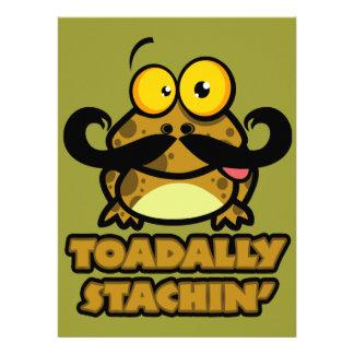 toadally sapo divertido del stachin con un bigote anuncio personalizado