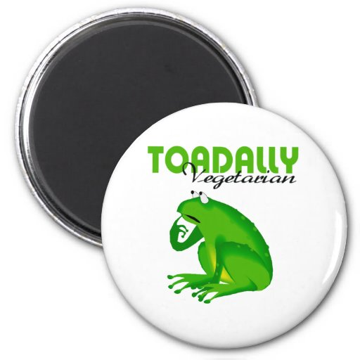 Toadally Vegetarian 2 Inch Round Magnet