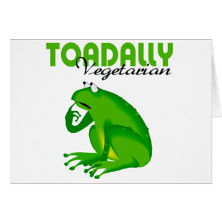 Toadally Vegetarian Card