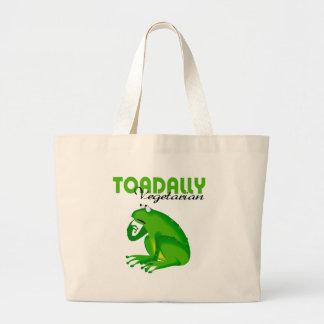 Toadally Vegetarian Large Tote Bag