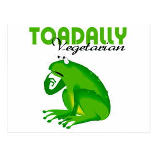 Toadally Vegetarian Postcard