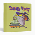 toadally witch funny toad witch brew cartoon vinyl binders