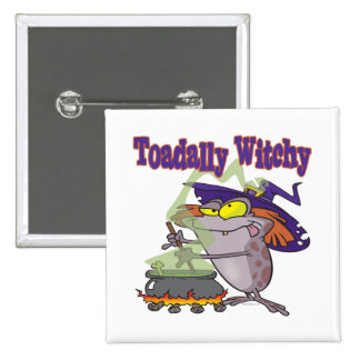 toadally witch funny toad witch brew cartoon button