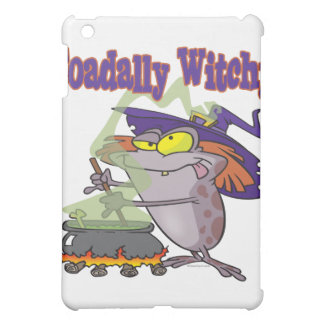 toadally witch funny toad witch brew cartoon cover for the iPad mini