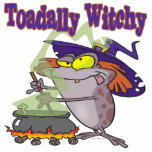 toadally witch funny toad witch brew cartoon photo sculpture