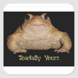 Toadally Yours Square Sticker