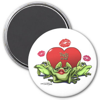 Toadly in Love Valentine Magnet