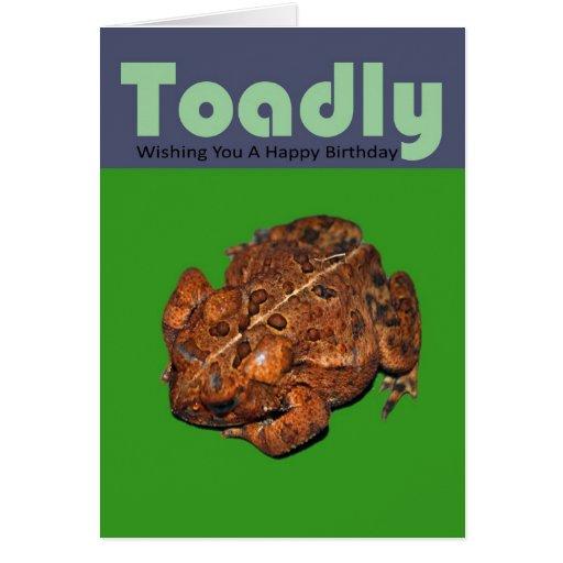 Toadly que le desea un feliz cumpleaños tarjeta de felicitación