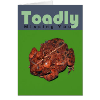 Toadly que le falta tarjeta de felicitación