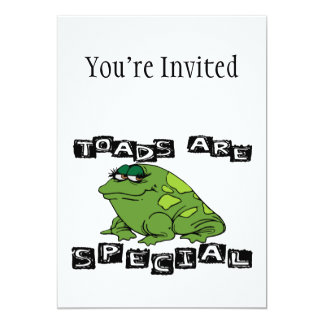 Toads Are Special 5x7 Paper Invitation Card