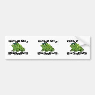 Toads Are Special Bumper Sticker