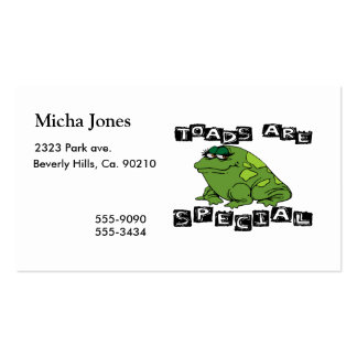 Toads Are Special Double-Sided Standard Business Cards (Pack Of 100)