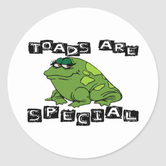 Toads Are Special Classic Round Sticker