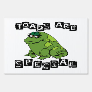Toads Are Special Lawn Signs