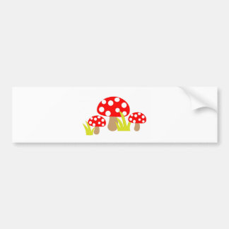 toadstool-220227  toadstool toadstools art cute re bumper sticker