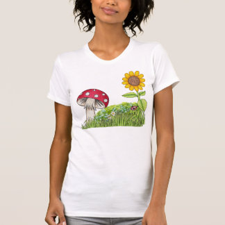 Toadstool and Sunflower Women's T-Shirt