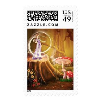 Toadstool Fairy Fantasy Art Postage