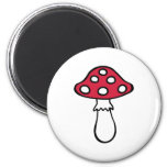 Toadstool fly agaric 2 inch round magnet