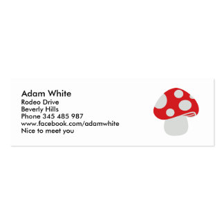 Toadstool fly agaric business card template