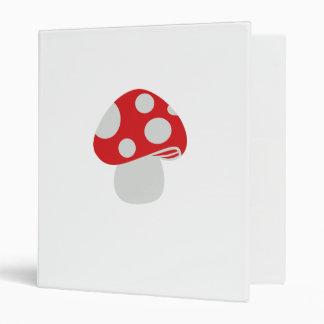 Toadstool fly agaric vinyl binders