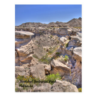 Toadstool Geological Park, Nebraska Postcard