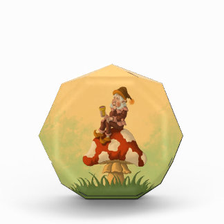 toadstool gnome acrylic award