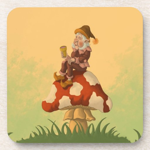 toadstool gnome cork coaster