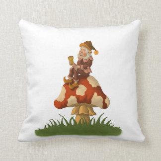 toadstool gnome funny fantasy pillow