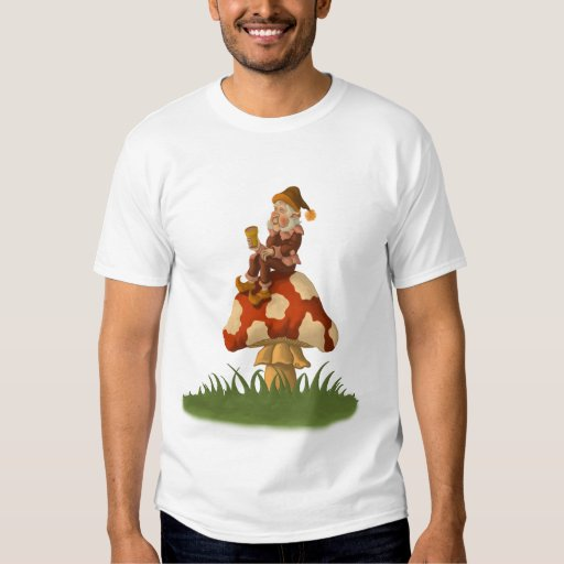 toadstool gnome t-shirt